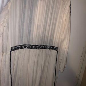 Boho peasant style dress